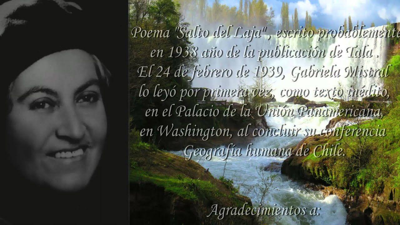 Poema Salto del Laja de Gabriela Mistral.