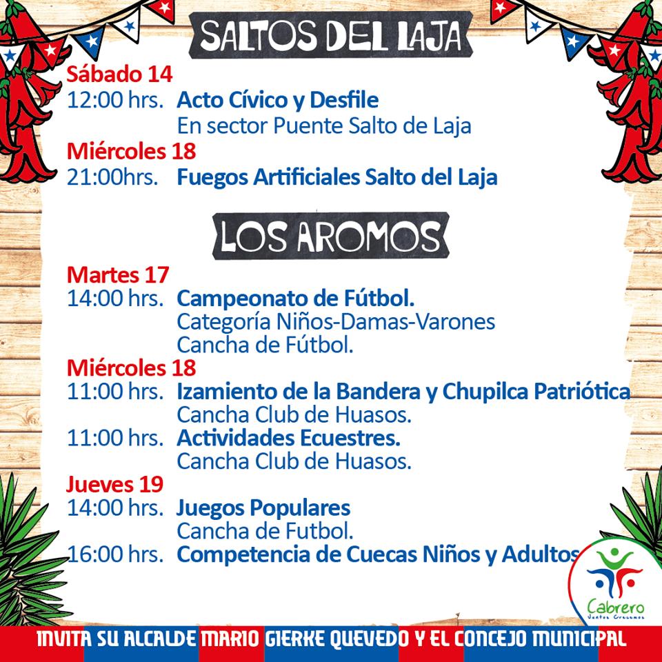 Juegos típicos en Chillancito, este 18 septiembre 2019